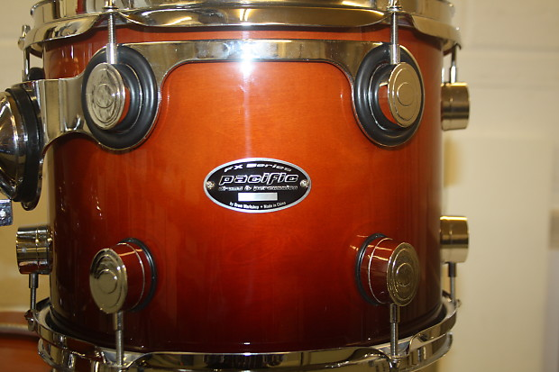 PDP Pacific (DW) FX Series Tobacco Fade 5 Piece Full Drum Kit (22