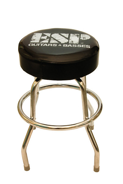 Incredible Guitar Stool With Esp Logo Padded Swivel 60Cm Height Reverb Bralicious Painted Fabric Chair Ideas Braliciousco