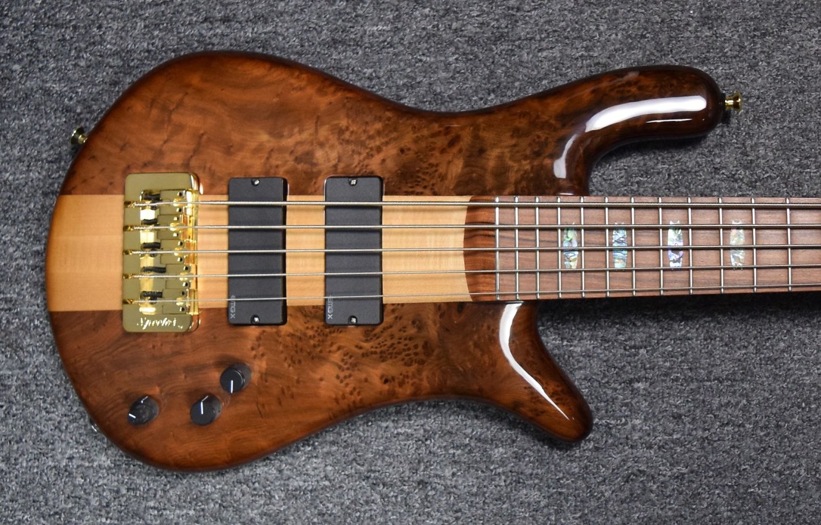 Spector USA NS5 XL, Natural Birdseye Redwood with Pau Ferro Board *NOT Pre-Owned