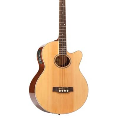Monterey MAB-325CE Solid Top Acoustic Electric Bass Guitar - Natural for sale