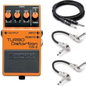 New Boss DS-2 Turbo Distortion Effect Pedal FREE Hosa Cables!