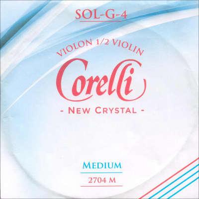 Corelli Corelli Crystal 1/2 Violin G String - Silver/Stabilon - Medium Gauge