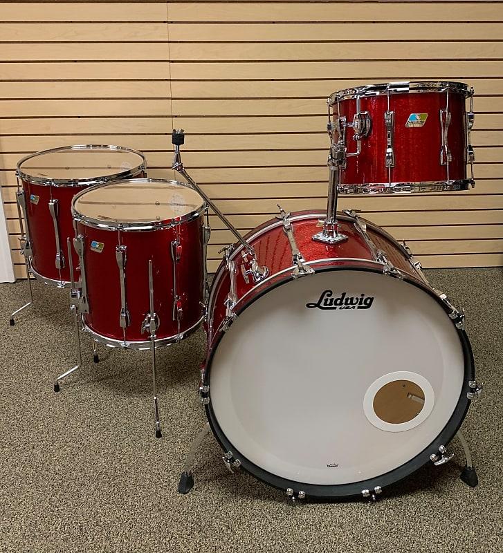 Ludwig Classic Maple Red Sparkle Bonham Sizes Rit Music