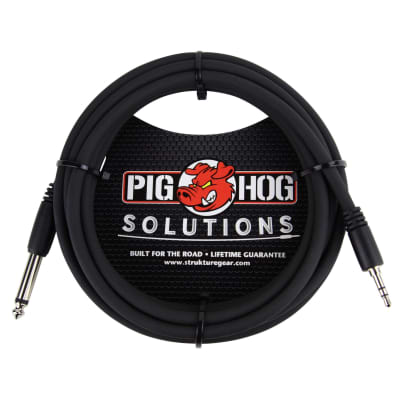"""Pig Hog PX-35T4M 3.5mm TRS to 1/4"""" Mono Cable - 10'"""