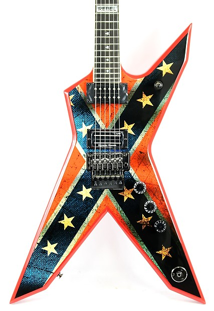 new 2015 dean dxr dimebag dixie rebel electric guitar w reverb. Black Bedroom Furniture Sets. Home Design Ideas