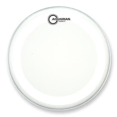"Aquarian TCSX8 8"" White Texture Coated Studio-X Drum Head"