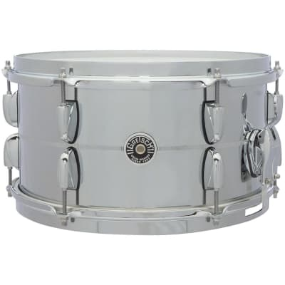"Gretsch GB4163S Brooklyn Chrome Over Steel 7x13"" 12-Lug Snare Drum"