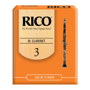 Rico RCA1030 Bb Clarinet Reeds - Strength 3.0 (10-Pack)