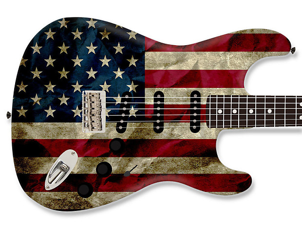 american flag guitar skin jmichael customs and accessories reverb. Black Bedroom Furniture Sets. Home Design Ideas