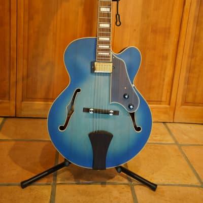 Ibanez AFJ91-JLF Artcore Expressionist Hollowbody 2010s Jet Blue Burst Flat for sale