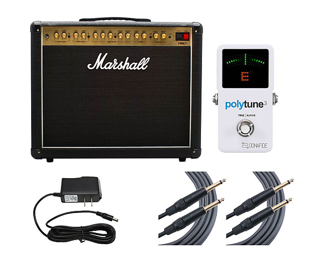 Marshall DSL40CR + Polytune 3 + Cables + Power Supply