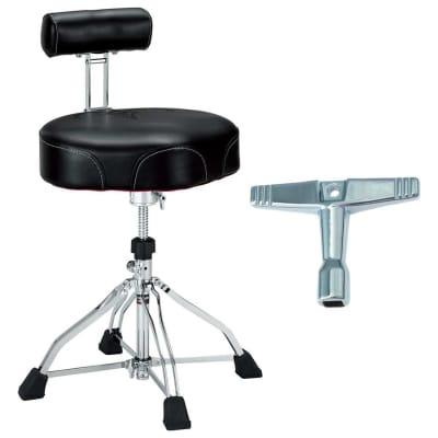 Tama HT741B 1st Chair Ergo Rider Drum Throne Back Rest Bundle