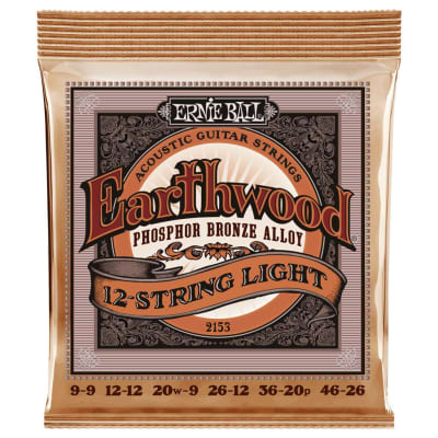 Ernie Ball Phosphor Bronze Light Gauge 12 String Acoustic Guitar Strings