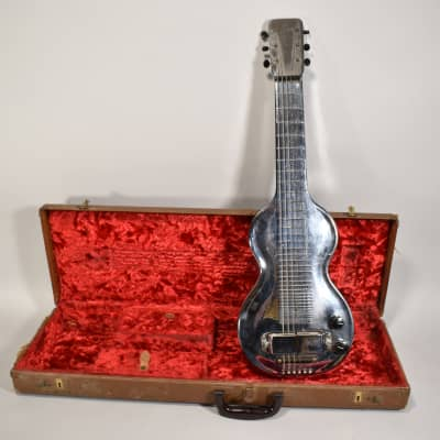 1930s Rickenbacker Electro Silver Hawaiian Vintage Lap Steel Slide Guitar w/OHSC for sale