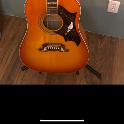 Epiphone Dove Pro Acoustic/Electric Guitar Violin Burst for sale