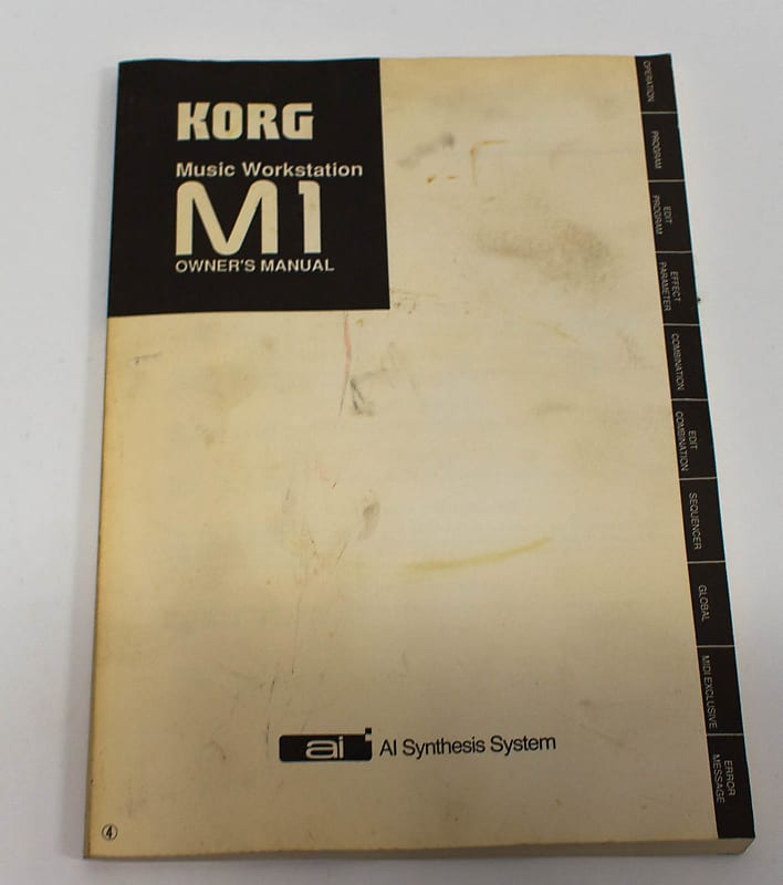 Korg M1 Music Workstation Synthesizer Owners Manual | Reverb