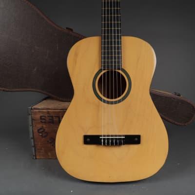 1960's Kay K 7020 Classic Nylon String Classical Folk Guitar Maple + Hardshell Case for sale