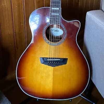 D'Angelico D'Angelico Premier Fulton 12-String Grand Auditorium 2020 Sun burst *Play Now & Pay Later for sale