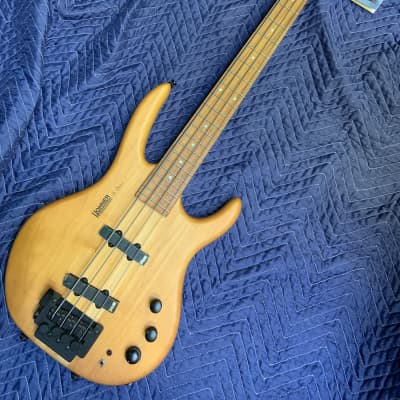 Hohner B Bass Active 4 String Professional Series with Drop D Bridge 2000's Natural Satin Korea for sale