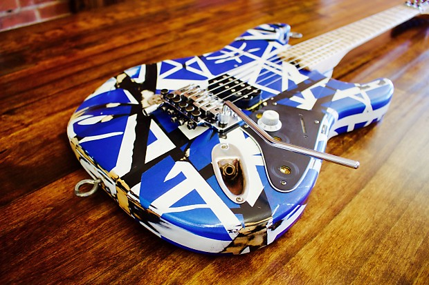 Evh Striped Series Relic D And Aged Blue Black White Reverb
