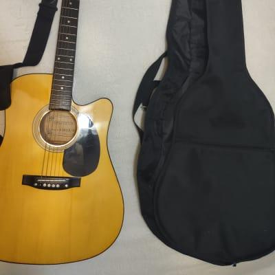Galveston Acoustic electric guitar 1990's Natural for sale