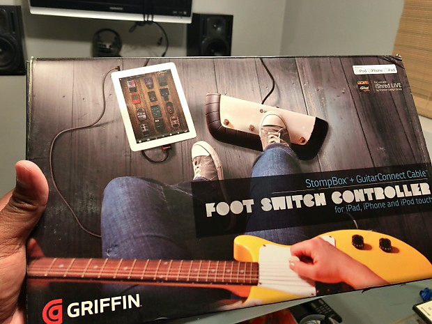 griffin stompbox pedal footswitch controller for ipad iphone reverb. Black Bedroom Furniture Sets. Home Design Ideas