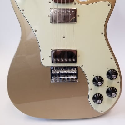 Fender Chris Shiflett Telecaster Deluxe Electric Guitar Rosewood Fingerboard Shoreline Gold 014-2400-744 for sale