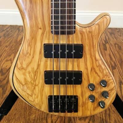 "PHD Custom Olive Wood 4-String 32"" Scale Bass"