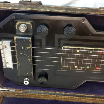 Vintage 1938 Epiphone Electar Model M Hawaiian Art Deco Lap Steel Guitar w/ Original Hardshell Case for sale