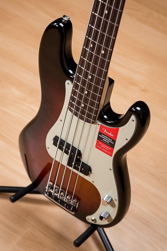 fender american professional p bass v rw sunburst reverb. Black Bedroom Furniture Sets. Home Design Ideas
