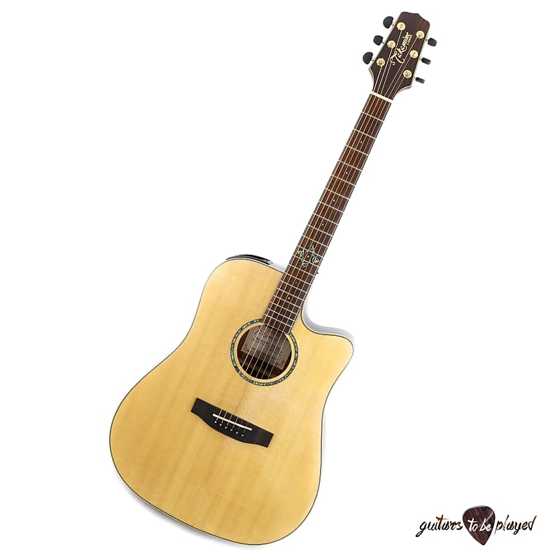 Takamine EG363SC Solid Spruce Top Dreadnought Acoustic/Electric Guitar - Natural image