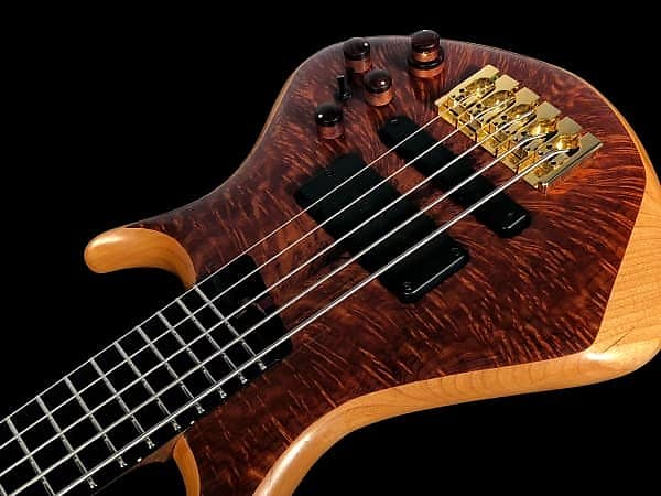 2015 Warrior Dran Michael Bolt-on 5-String Bass w 18v Pre-amp ~ Feathered Redwood Top ~ w Warranty