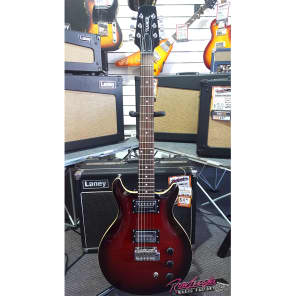 Hamer The Arch Top Double Cutaway Electric Guitar with Locking Tuners in Red for sale