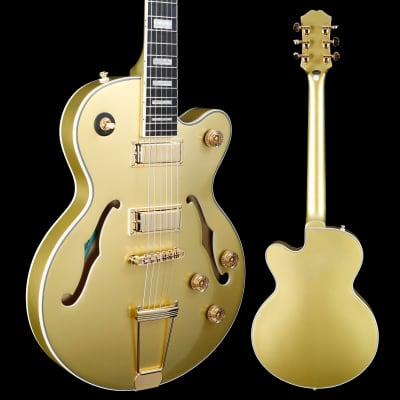 Epiphone ETUETGMGH1 Uptown Kat ES, Topaz Gold Metallic 725 7lbs 3.1oz for sale
