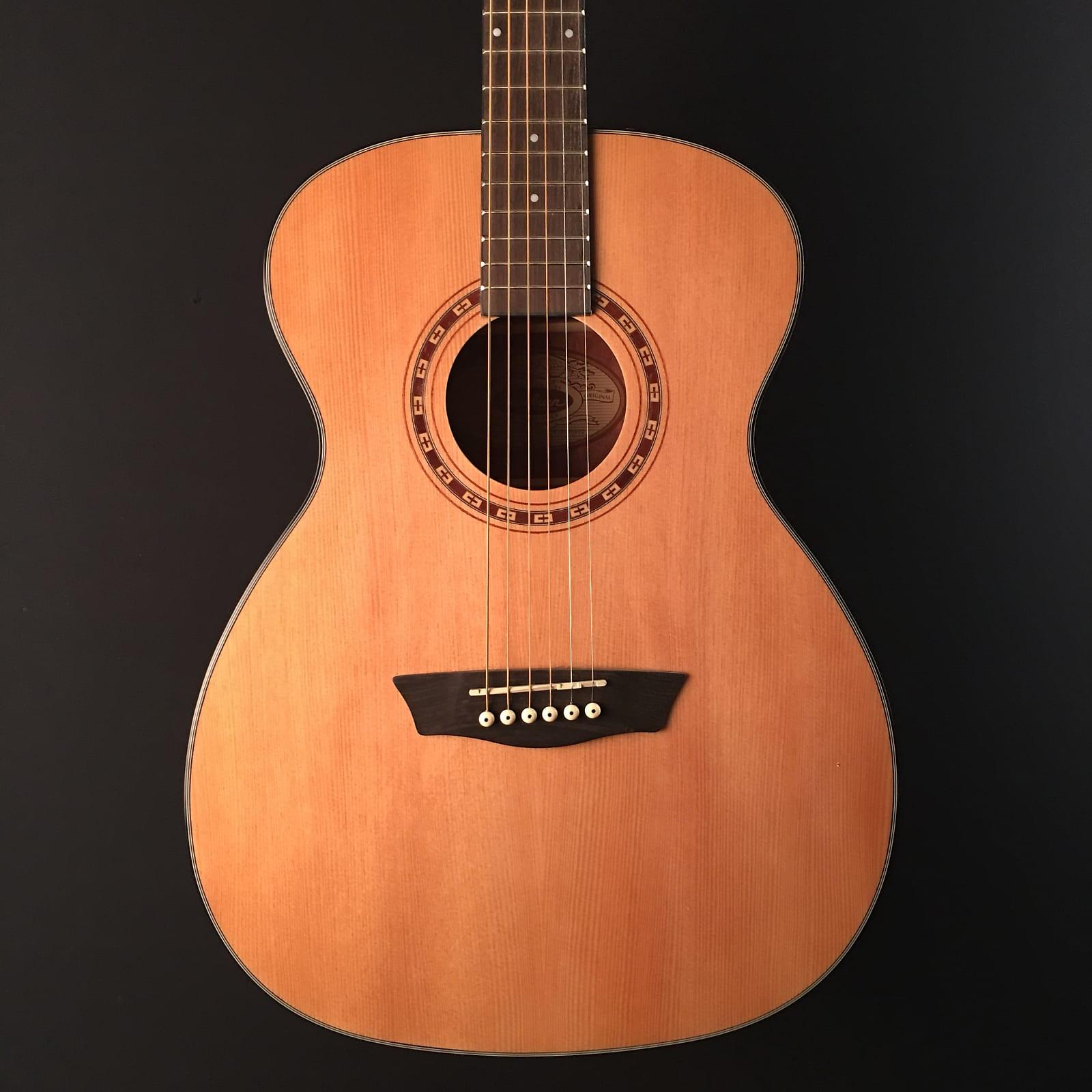 8d455d63a0 Washburn AF5K Apprentice 5 Series Folk Acoustic Guitar w/ Hard ...