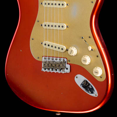 Fender Custom Shop 2019 Limited Big Head Strat Journeyman Relic Aged Candy Apple Red (794) for sale