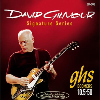 GHS David Gilmour Signature Red Boomers Electric Guitar Strings for Gibson Guitars10.5-50