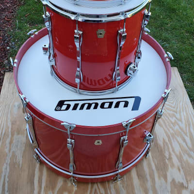 Ludwig Maple 13/16/28 Red Lacquer