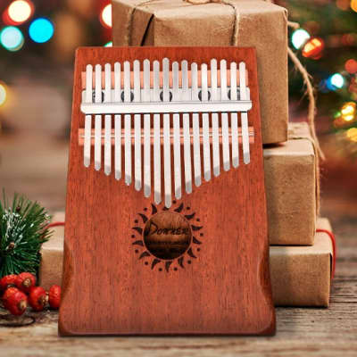 Christmas Gift 17 Key Kalimba Thumb Piano Bundle Full Kit
