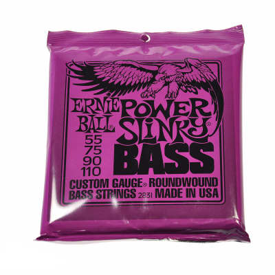Ernie Ball Power Slinky Bass Strings Roundwound Set 55-110