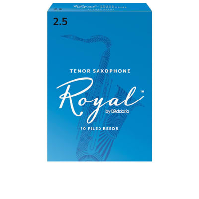 Rico Royal RKB1025 Tenor Saxophone Reeds 2.5 10/box