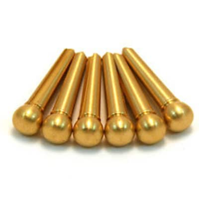 Bridge Pins, (6) Brass - Brass