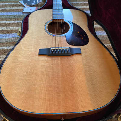 Morgan DMK (Dreadnaught Mahogany with Koa binding) for sale
