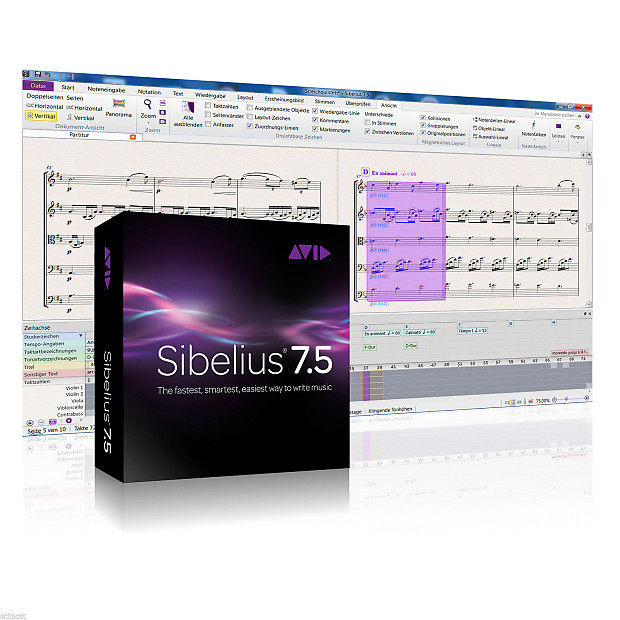New Avid Sibelius 7 5 Academic Students Edition Boxed Music Pro Software  Mac PC