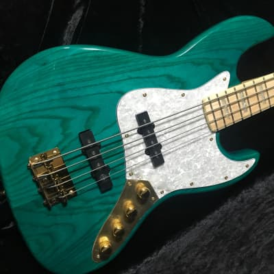 Swing Jazz 4V Emerald Green Electric Bass Guitar 2019 for sale