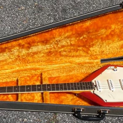 1960s Vox Phantom VI Electric Guitar W/OHSC Red Vintage V209 for sale