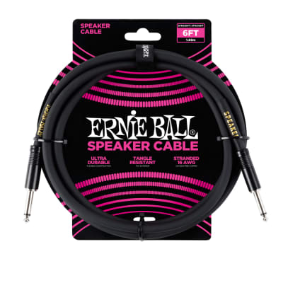 Ernie Ball Straight/Straight Speaker Cable 6 ft Black for sale