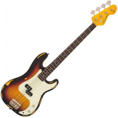 Vintage Bass V4MRSSB Distressed finish, Sunset Sunburst
