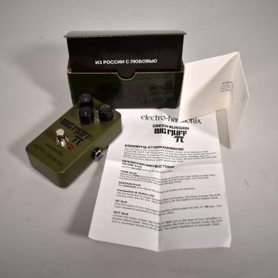 Electro-Harmonix Green Russian Big Muff Pi Reissue Fuzz Effect Pedal