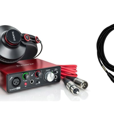 Focusrite Scarlett Solo Studio 2nd Gen w/ 15-foot XLR Mogami Cable Bundle image